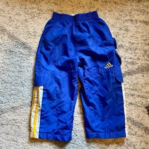 Adidas 2T Lined Athletic Pants Zipper Cuffs